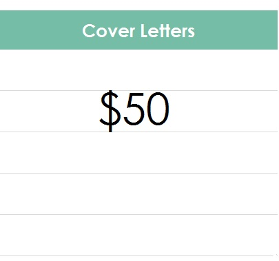 COVER LETTER PRICES